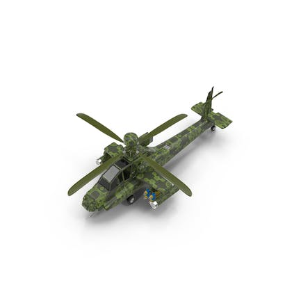 Cartoon Attack Helicopter