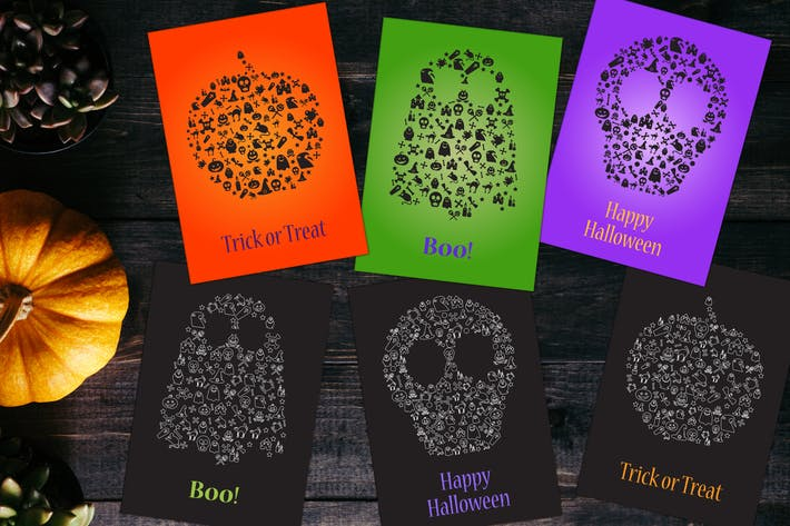 Happy Halloween Silhouetten Set