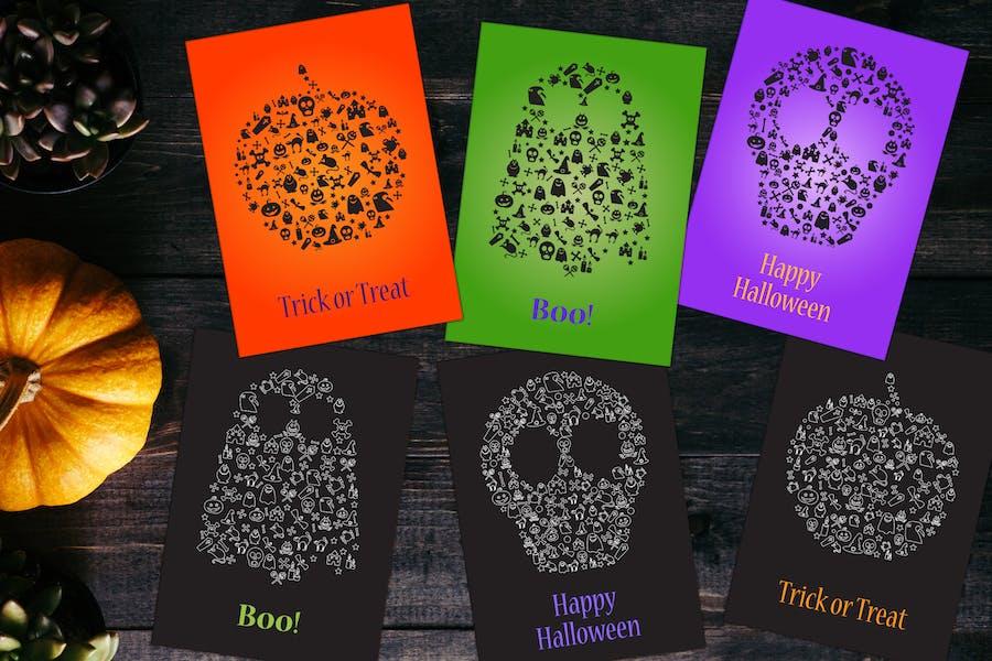 Happy Halloween Silhouettes Set