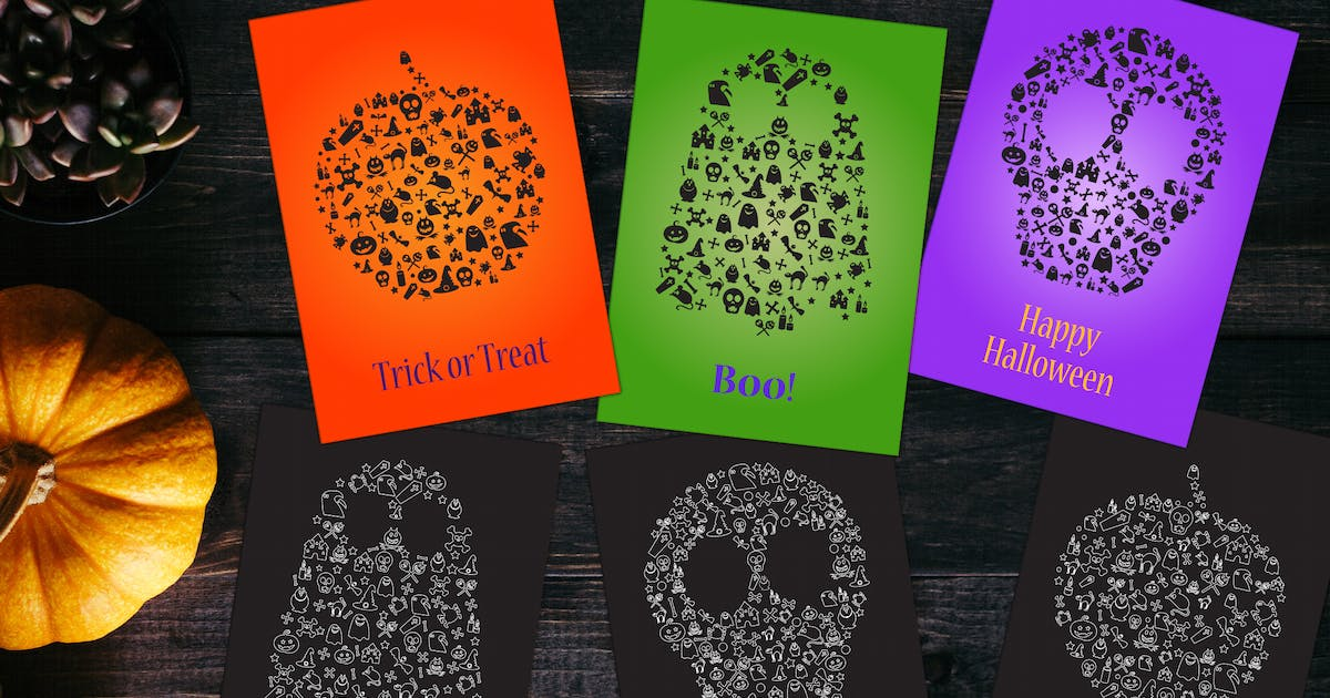 Download Happy Halloween Silhouettes Set by barsrsind