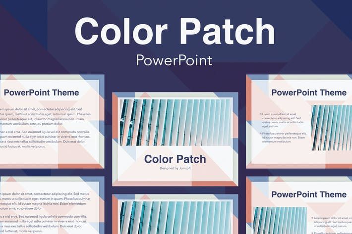 Thumbnail for Color Patch PowerPoint Template