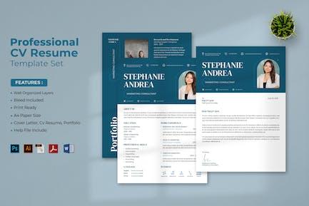 Professional CV Resume Set