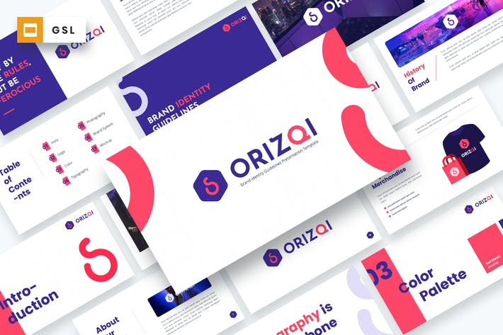 Thumbnail for Orizqi - Brand Identity Guidelines Google Slides