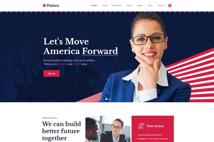 Thumbnail for Potisen - Election & Political WordPress Theme
