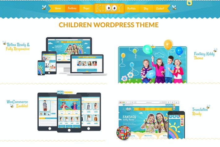 Thumbnail for Kiddy Children WordPress theme