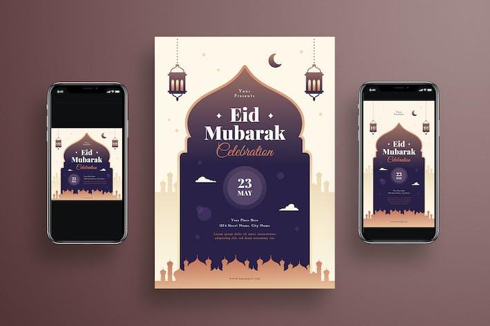 Thumbnail for Eid Mubarak Flyer + Social Media