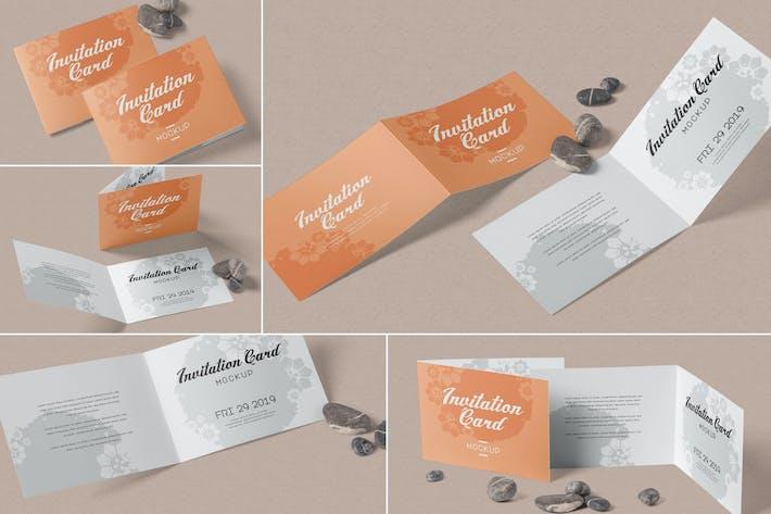 Thumbnail for Landscape Bi-Fold Einladungskarte Mock-ups