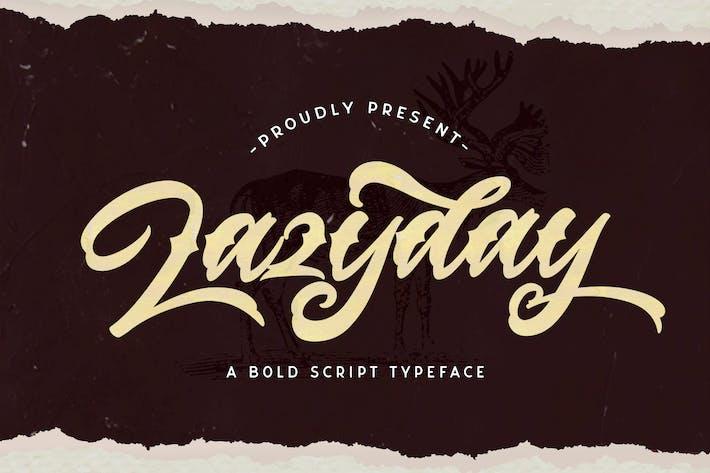 Thumbnail for Lazyday - Fuente de escritura en negrita
