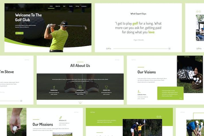 Thumbnail for Golfie - Golf Powerpoint Presentation