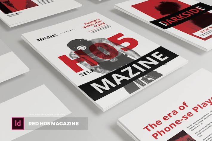 Thumbnail for Red H05 | Magazine Template