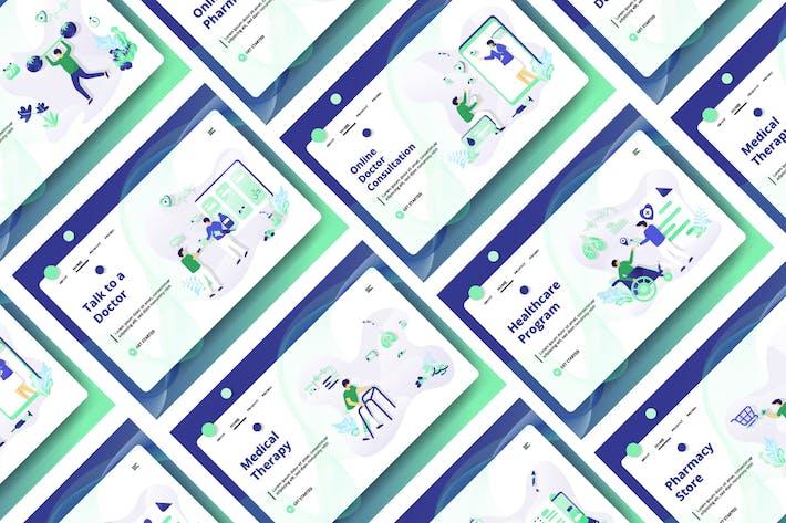 Thumbnail for Медицинский и медицинский набор Иллюстрация