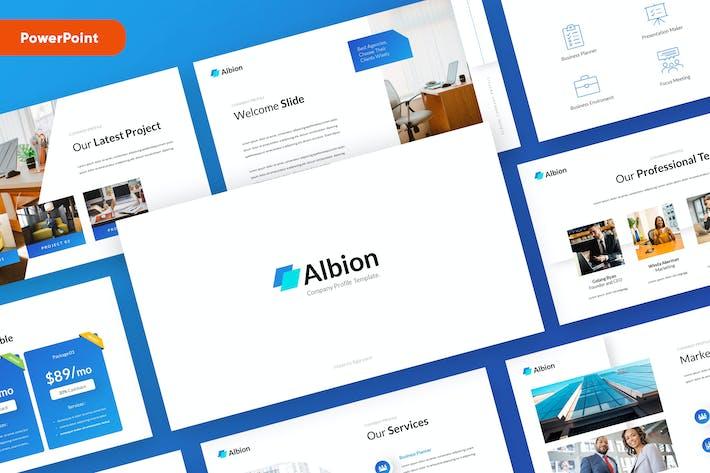 Шаблон презентации профиля компании Powerpoint