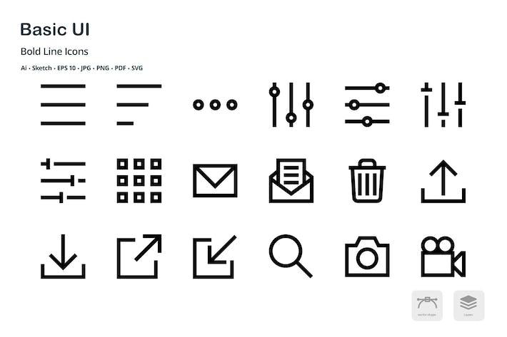 Thumbnail for Basic User Interface Mini Bold Line Vector Icons