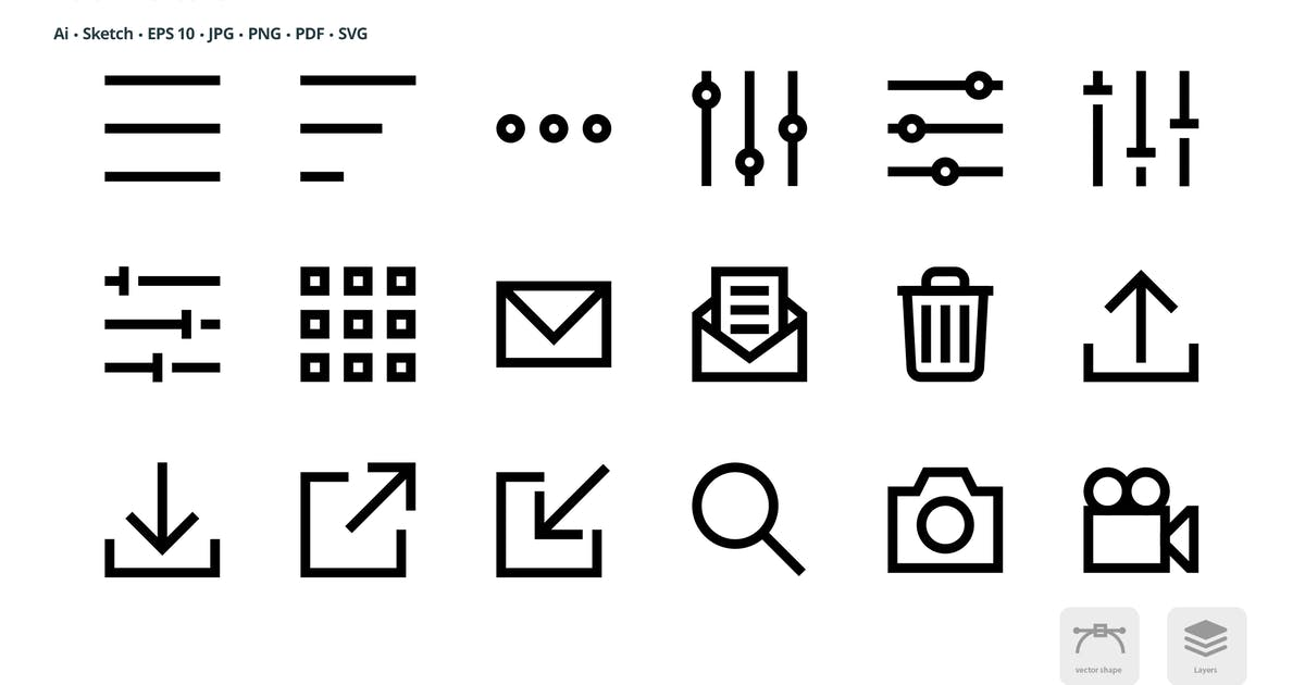 Download Basic User Interface Mini Bold Line Vector Icons by roundicons