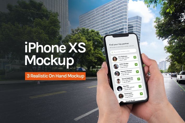 Thumbnail for Aplicación iPhone XS Mockup