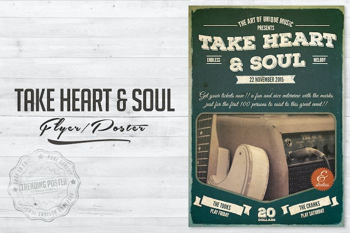 Thumbnail for Take Heart and Soul Flyer Poster
