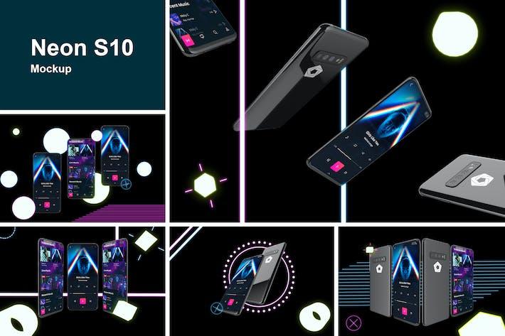 Neon S10 mockup