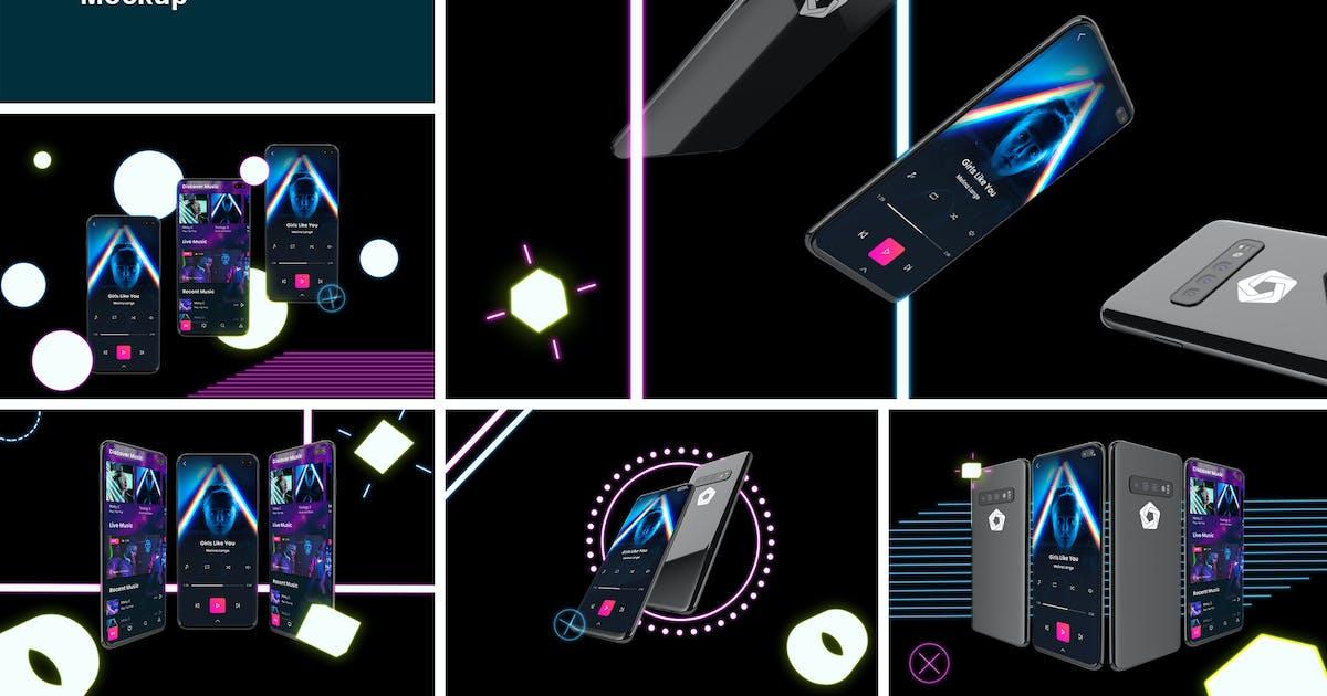 Download Neon S10 mockup by QalebStudio