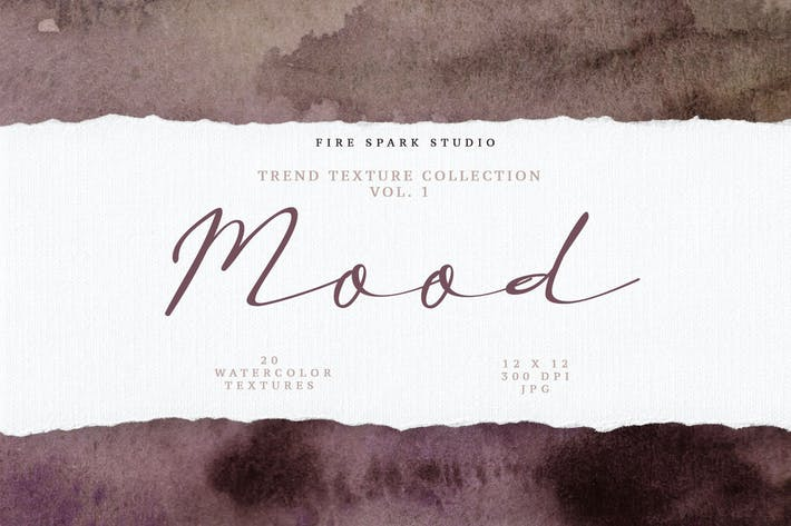 Thumbnail for Mood Trendy Watercolor Textures