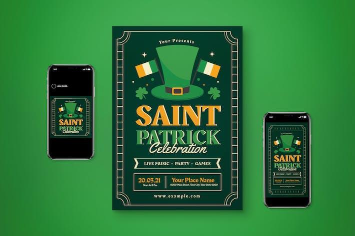 Ensemble de dépliant St Patrick