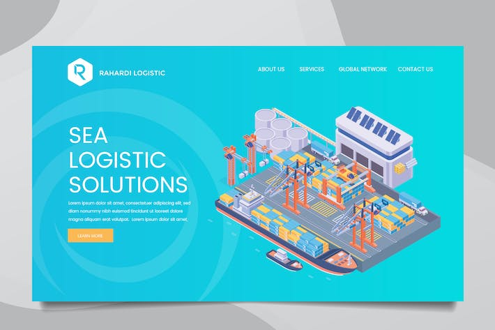 Thumbnail for Sea Logistic Web Header PSD & Vector Templ Vol. 01