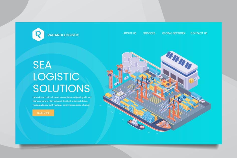 Download Sea Logistic Web Header PSD & Vector Templ Vol. 01 by RahardiCreative