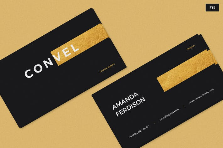 Thumbnail for Convel Business Card Template