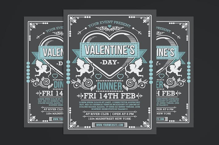 Cover Image For Valentine's Day Dinner Flyer