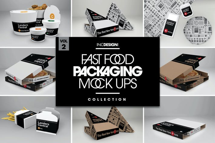 Thumbnail for Fast Food Boxes Vol.2: Take Out Packaging Mock Ups