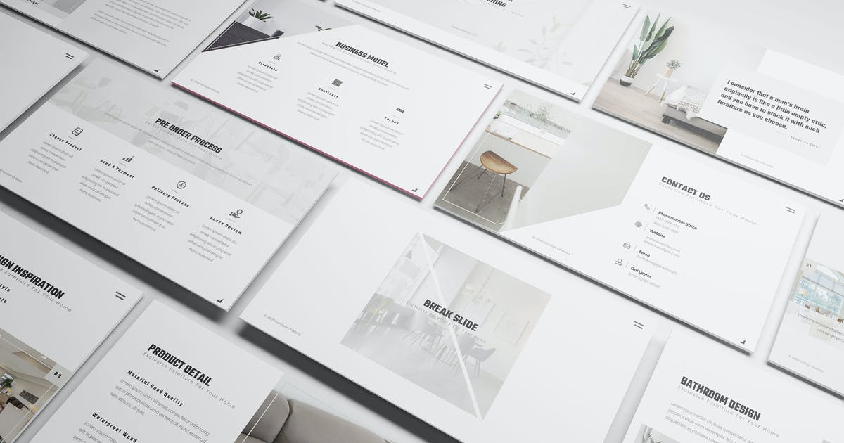 Download Furniture Powerpoint Presentation Template by Formatika