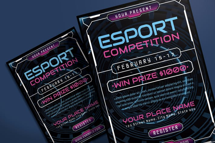 Thumbnail for E-Sport Gaming Competition - Flyer Template