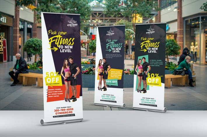 Cover Image For Gym Roll-Up Banner