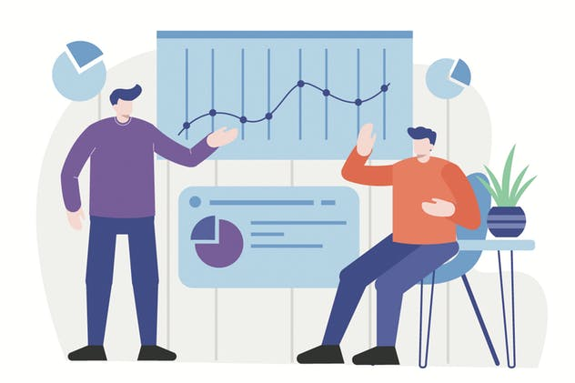 Data and Statistic - Flat Illustration Vol. 01