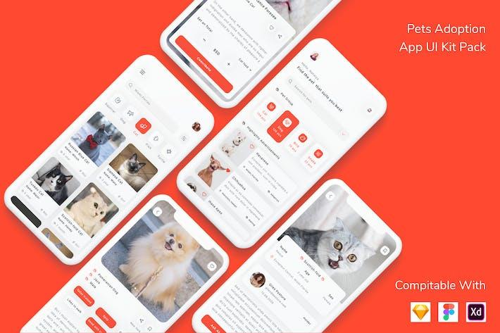 Thumbnail for Pets Adoption App UI Kit Pack