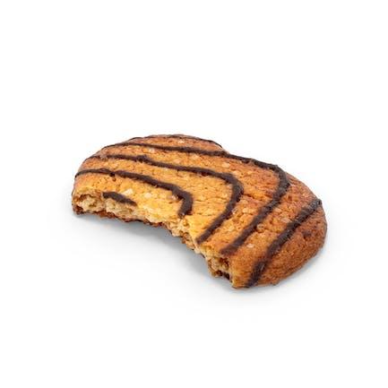 Gebissene Schokolade Cookie