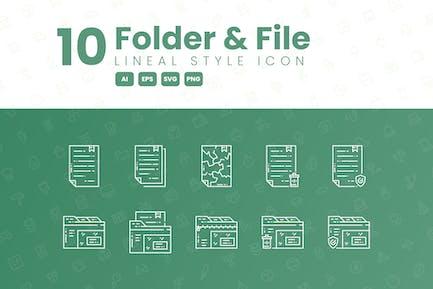 10 Ordner- und Datei-ausführliche Icon-Sammlung