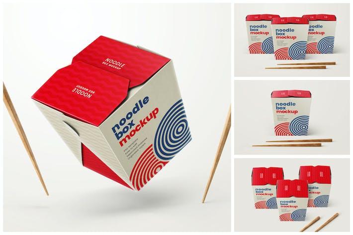 Thumbnail for Noodle Box Mockup Set   Asian Food
