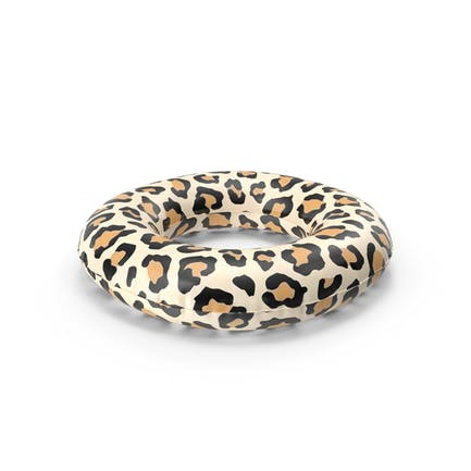 Pool Tube with Leopard Print