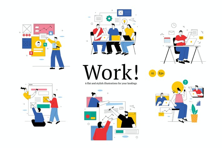 Thumbnail for Team Work Graphic Illustration