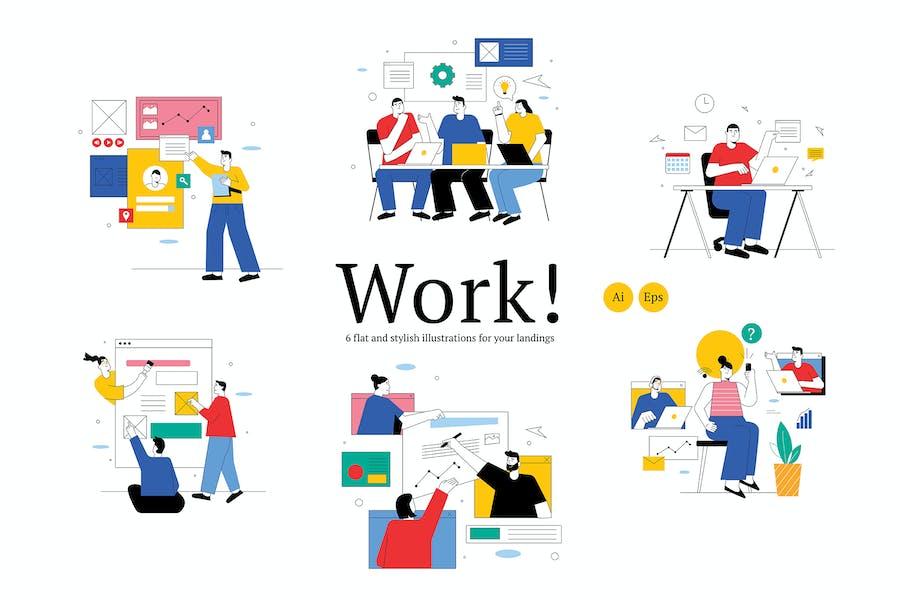 Team Work Graphic Illustration