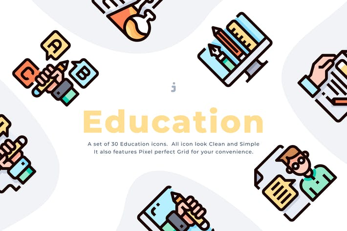 Thumbnail for 30 Education Icon set