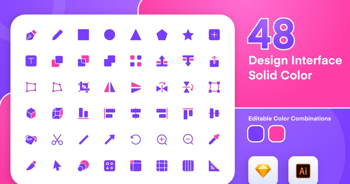 Download Design Interface Solid Color Icon Set by sudutlancip