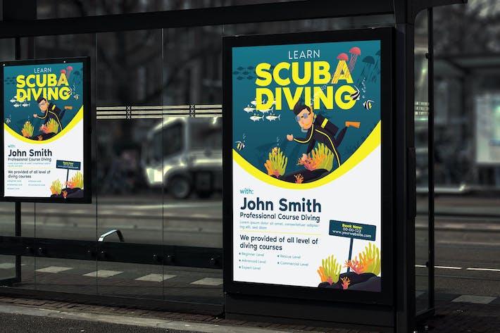 Thumbnail for Learn Scuba Diving - Poster GR