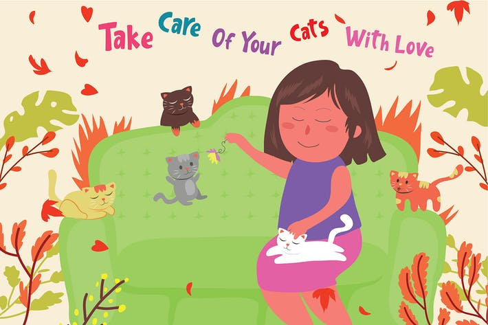 Thumbnail for Take of Cats - Vector Illustration