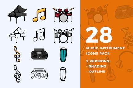 28 Instrumentos de Música Icon Pack