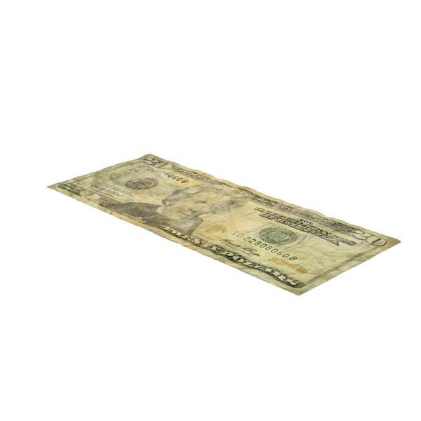 US 20 Dollar Bill Distressed