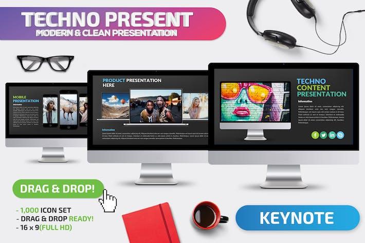 Шаблон презентации Keynote докладов Techno