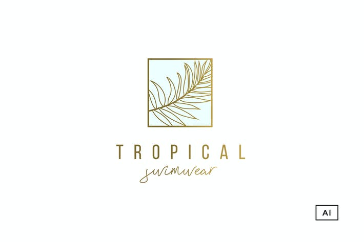 Cover Image For Tropical Palm Logo Template