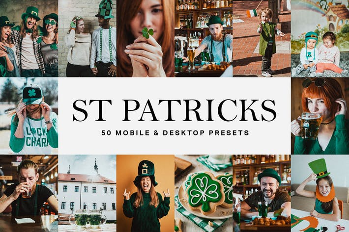 Thumbnail for 50 St Patrick's Day Lightroom Presets and LUTs