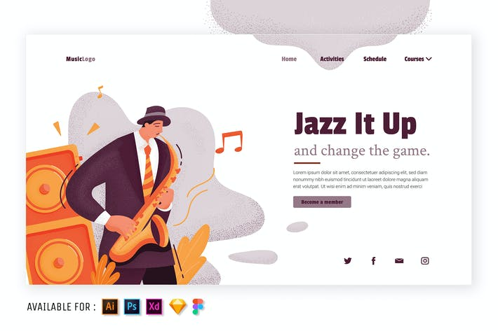 Thumbnail for Jazz It Up - Illustration plate